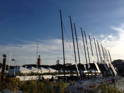 Melges 32 lined up and ready for action in Gaeta.